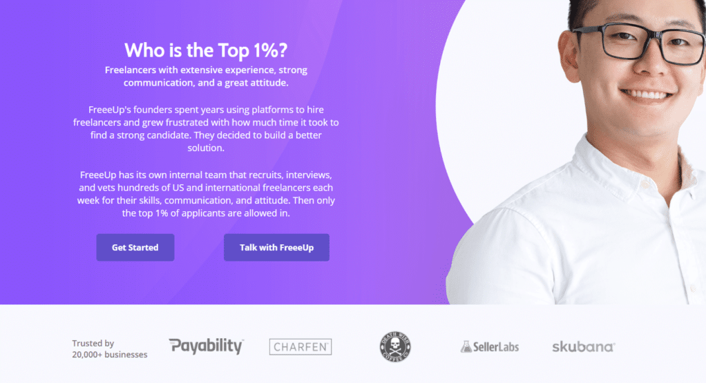 Who is the top 1% according to FreeUp?