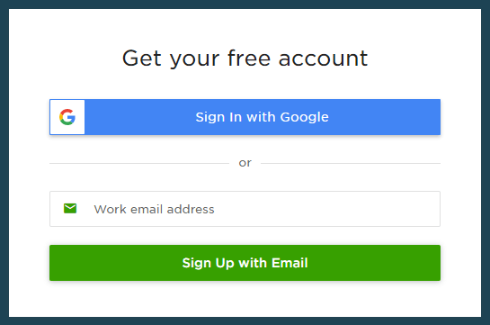 Upwork requires a work email address upon signing up