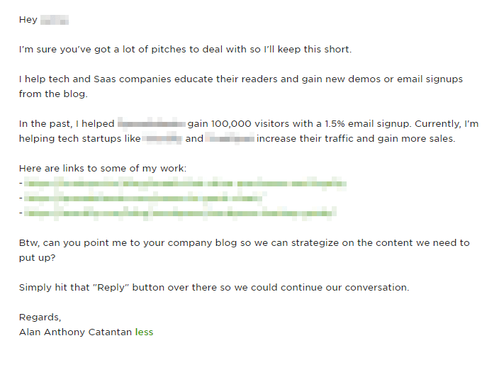 A cover letter I used to land a premium deal with a client.