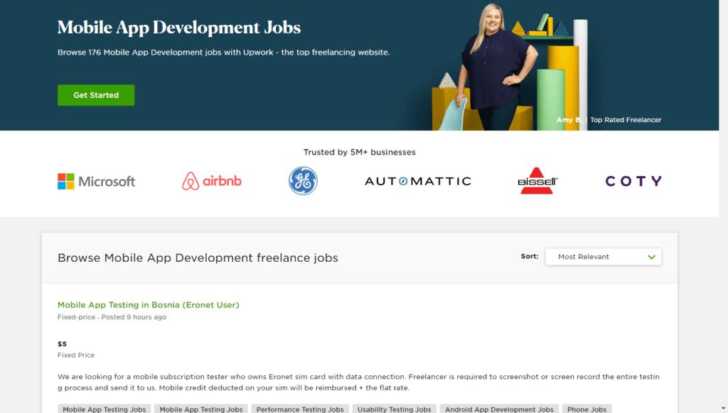More than 170 mobile development jobs on Upwork
