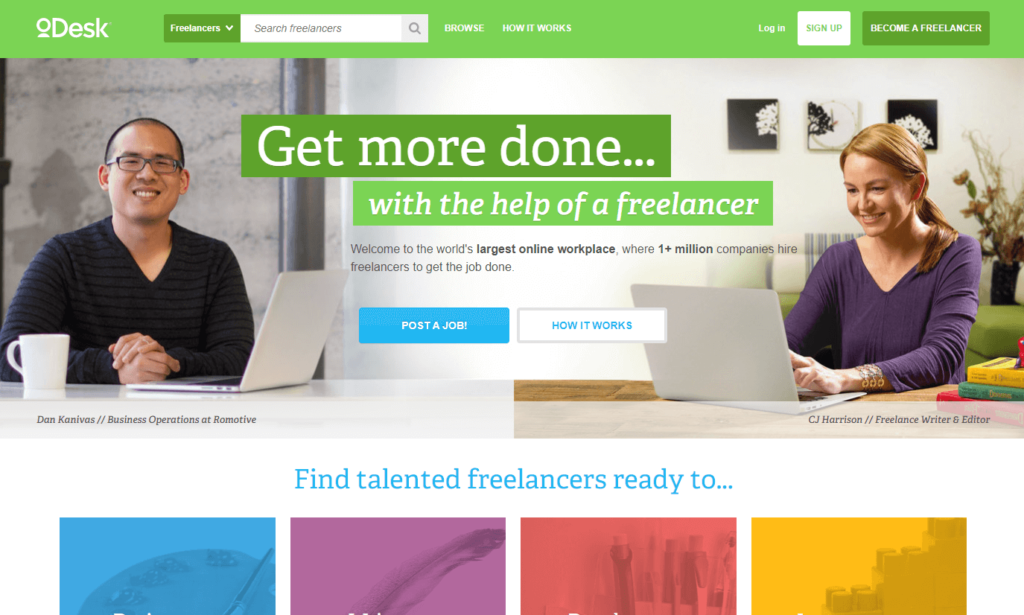 How Upwork as ODesk looked like way back in 2014