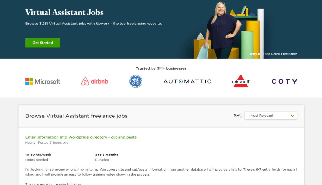 More than three thousand virtual jobs on Upwork