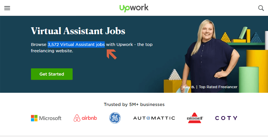 There are more than 3,500 virtual assistant jobs on Upwork.
