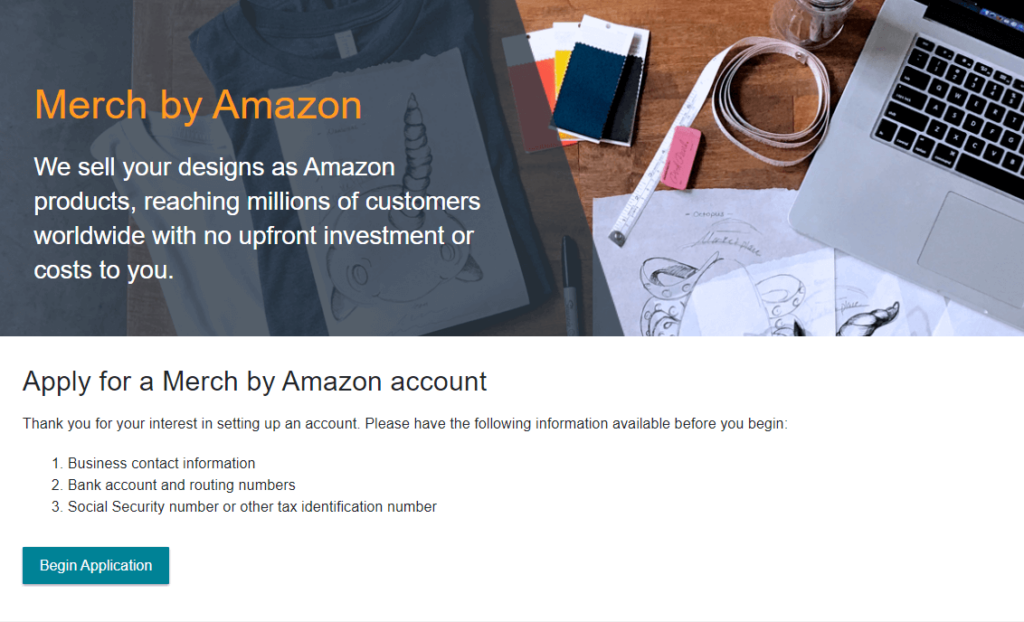 How to apply for an invitation to Merch by Amazon?