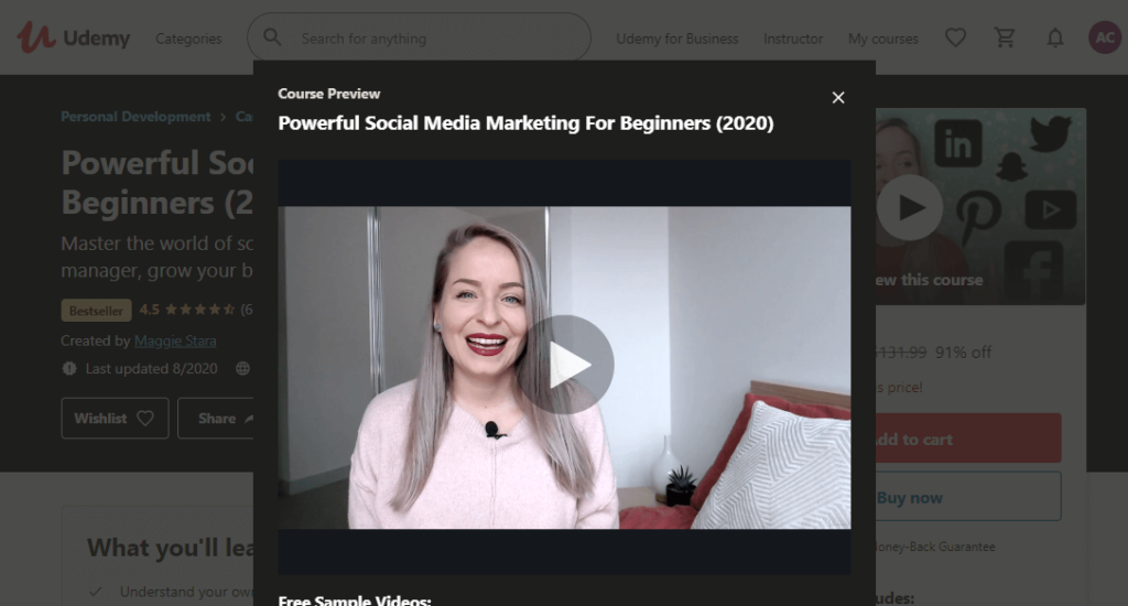 "What the ""Powerful Social Media Marketing For Beginners (2020)"" course is all about"