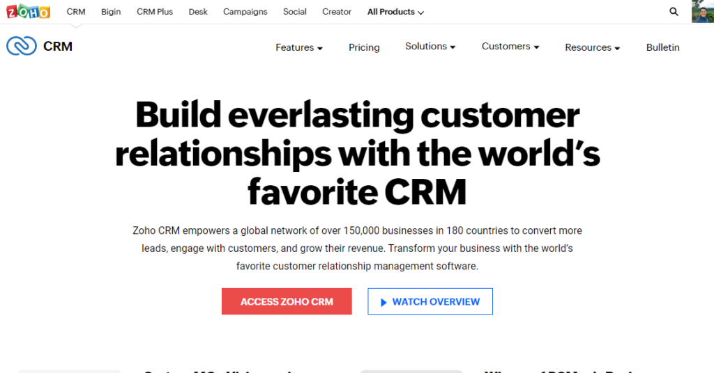 What is Zoho CRM?