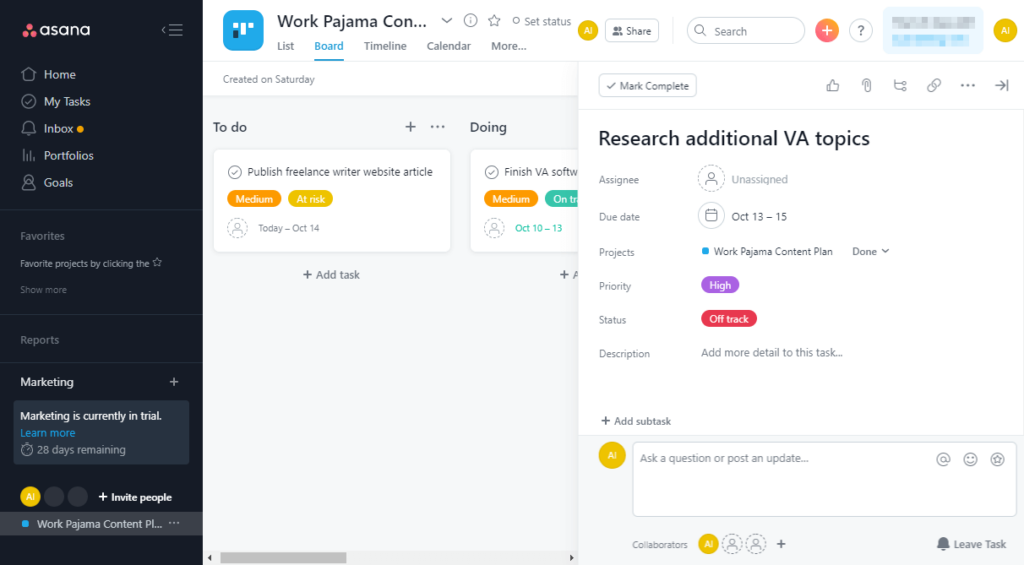 Does Asana have a kanban board feature?