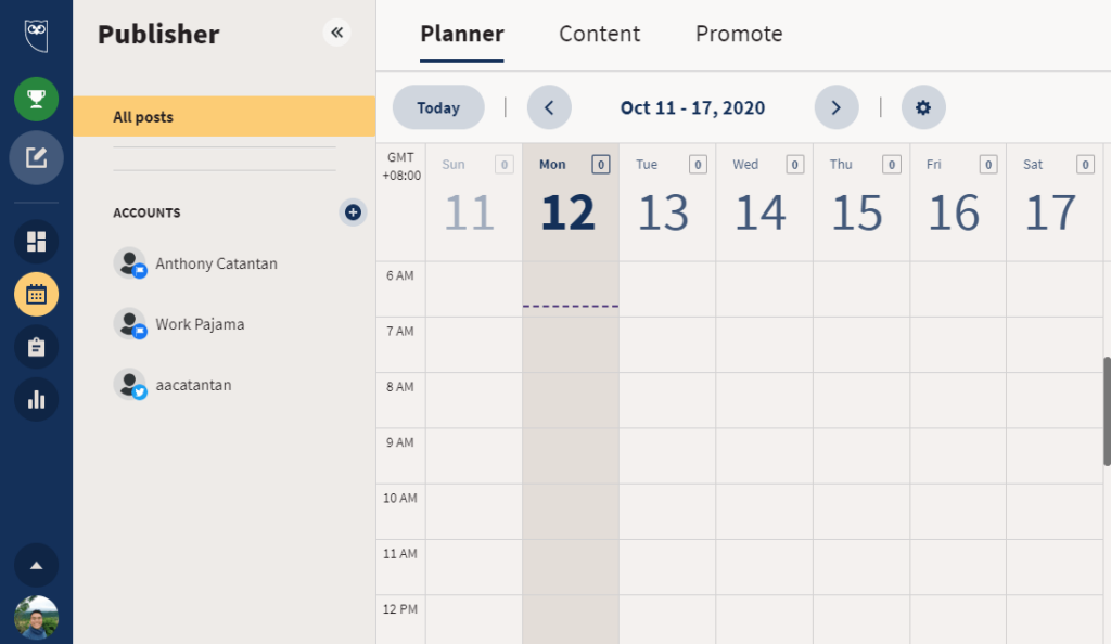 How to use Hootsuite's calendar feature?