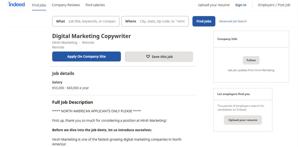 The demand for digital marketing writers is still pretty high