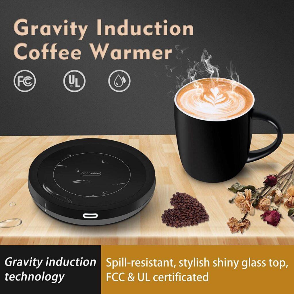 BESTINNKITS Smart Coffee Set Auto On/Off Gravity-induction Mug Office Desk Use