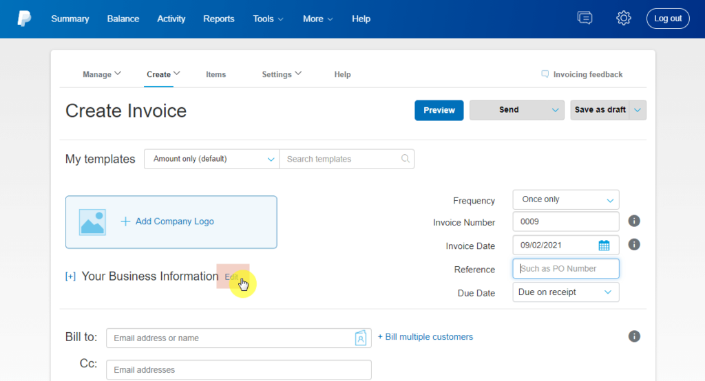 How to edit your business information on PayPal