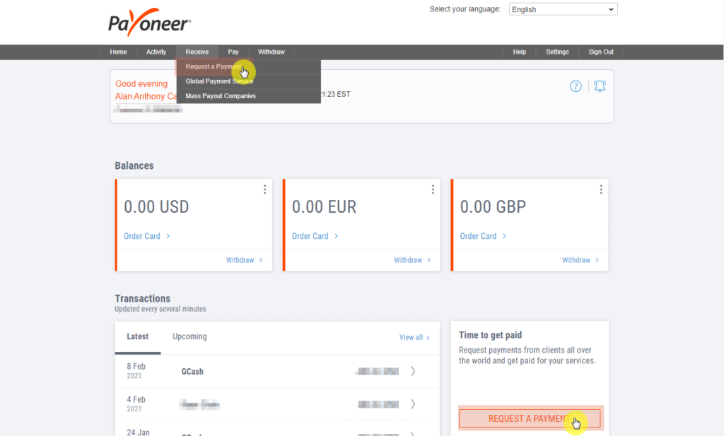 How to send an invoice using Payoneer?