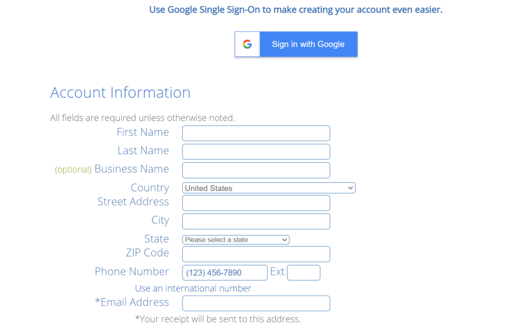 Fill out the form with your personal information