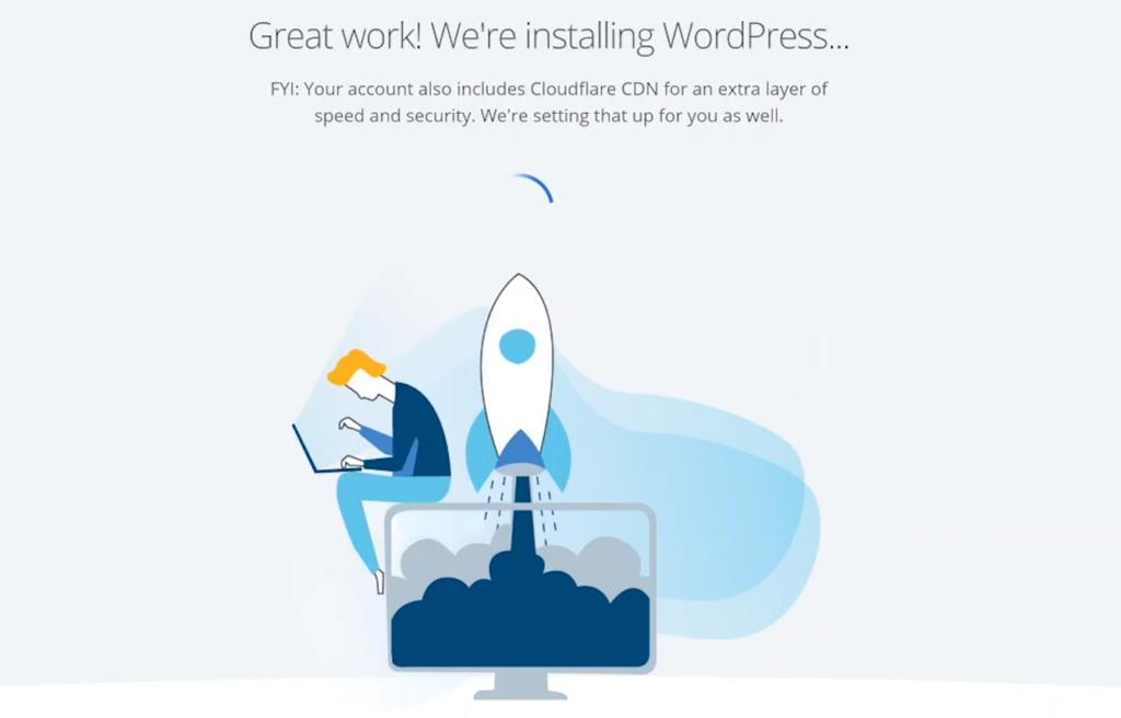 Bluehost installing WordPress